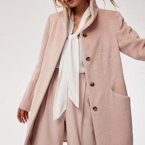 Aritzia Wilfred pink Alpaca coat